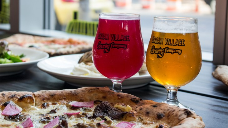 Pizza and Beer (and More) at Urban Village Brewing