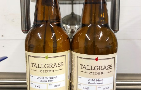 MN Nice Semi-Sweet and Wild Orchard Semi-Dry ciders from Tallgrass Cider in Madelia, Minnesota