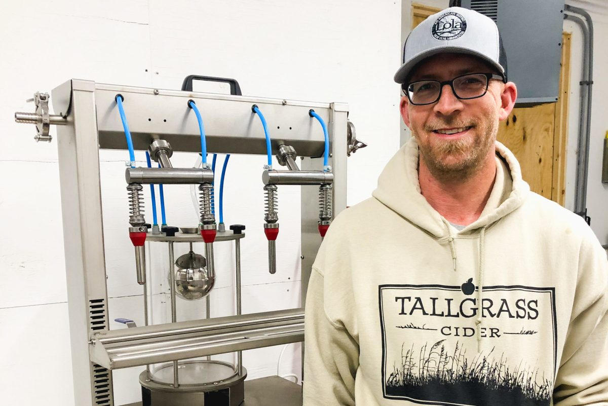 John Knisley, co-founder and cidermaker at Tallgrass Cider in Madelia, Minnesota • Photo via Tallgrass Cider