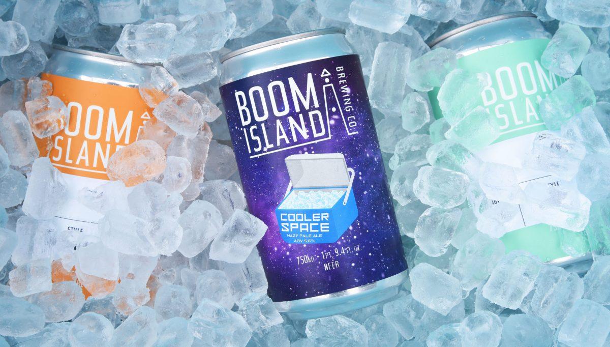 Boom Island Cooler Space Hazy Pale Ale • Photo via Boom Island Brewing Company