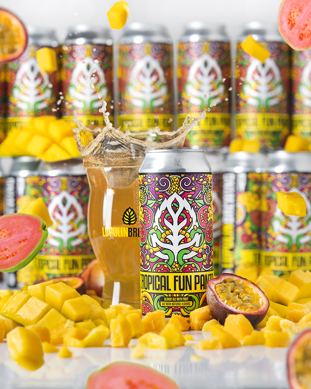 Lupulin Tropical Fun Pants • Photo via Lupulin Brewing
