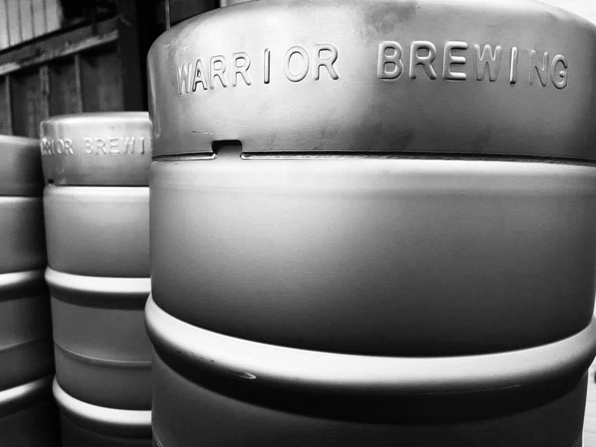 Keg from Warrior Brewing Company in Duluth • Photo via Warrior Brewing Company