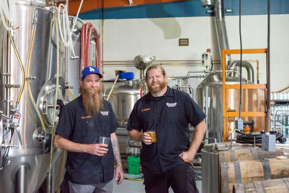 AEGIR Brewing co-founders Jeremy Jones (left) and Tim Jones • Photo by Katelyn Regenscheid