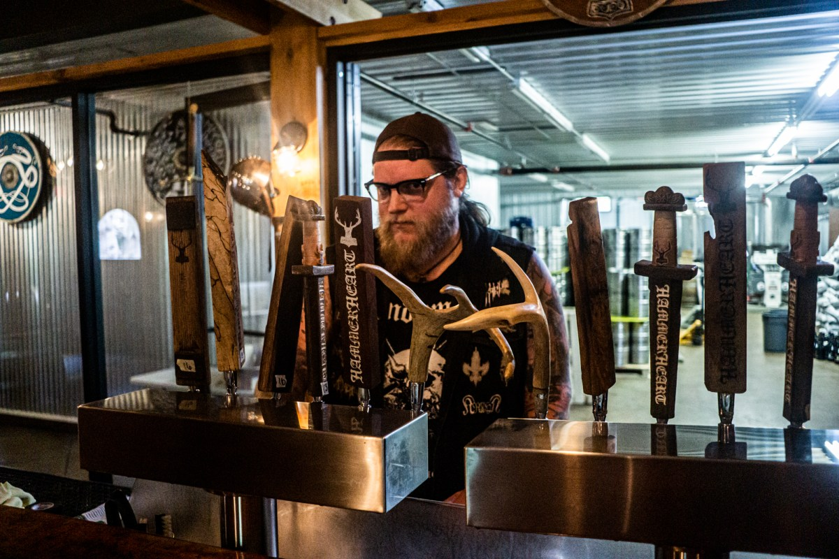 HammerHeart brewer Austin Lunn • Photo by Jerard Fagerberg