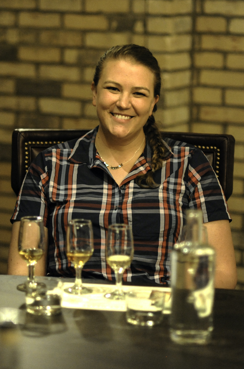Kate Doerges, distillery at O'Shaughnessy Distilling • Photo by Daniel Murphy