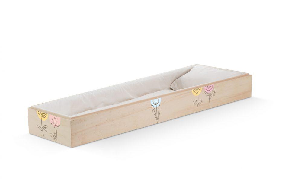 persoonlijke uitvaartkist bloemen, illustratie , bijzondere doodskist, grafkist afbeelding, Beerenberg