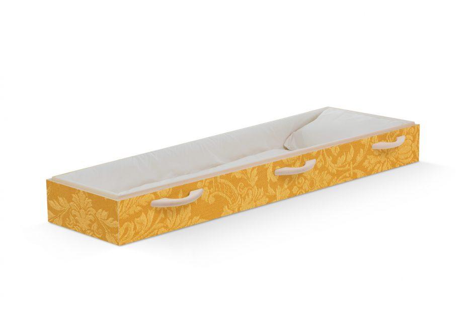 Uitvaartkist bijzonder, ornament, geel, goud persoonlijke doodskist, grafkist afbeelding, Beerenberg