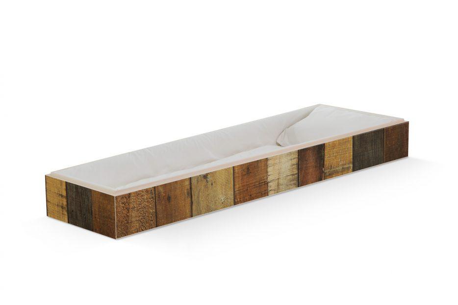 Uitvaartkist bijzonder oud hout, persoonlijke doodskist, grafkist afbeelding, Beerenberg