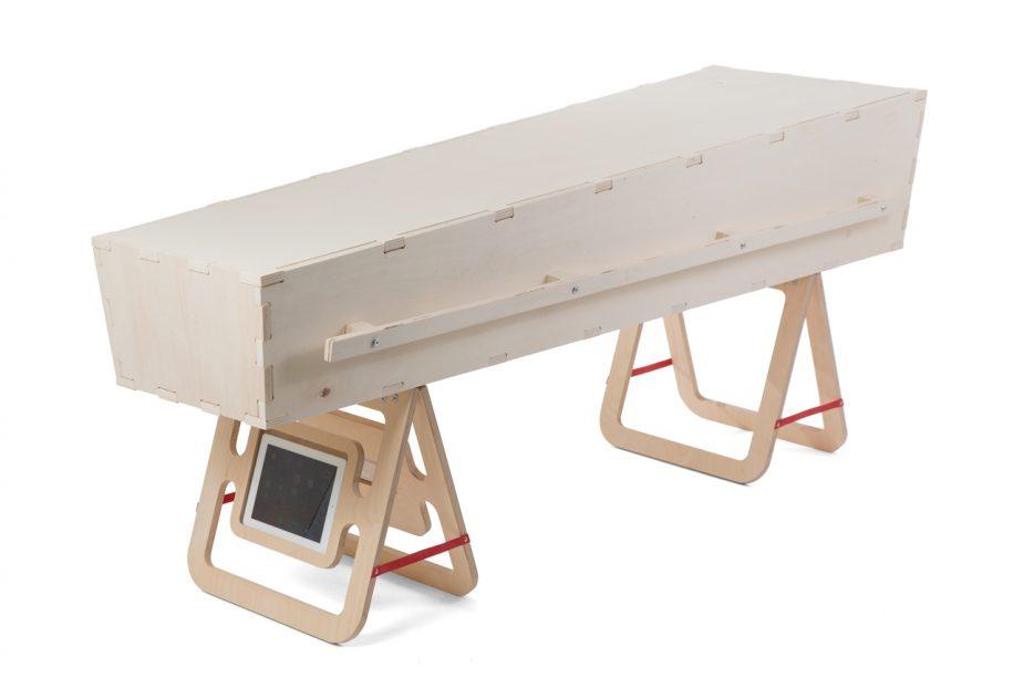 kistschragen kistbokjes beeld en geluid met ipad en box