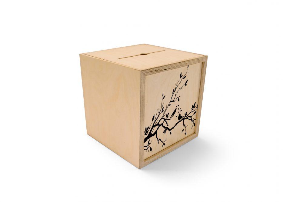 condoleance box met afbeelding Beerenberg