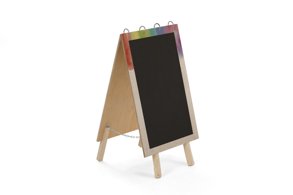 Uitvaart bord, uitvaart benodigdheden uitvaartonderneming, schoolbord krijt, Beerenberg kleur