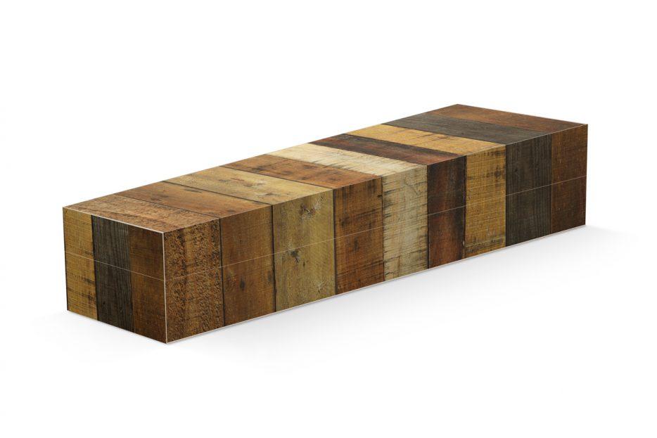 Uitvaartkist oud hout bijzonder, persoonlijk grafkist, uitvaartkist Beerenberg