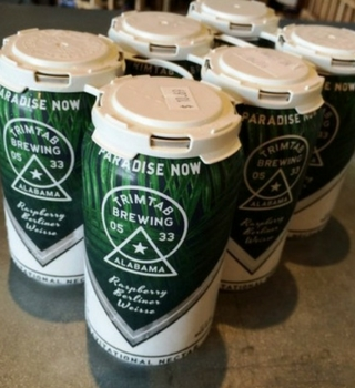 Trim Tab's Paradise Now Raspberry Berliner Weiss made its canned debut in 2016. (photo courtesy AL.com)