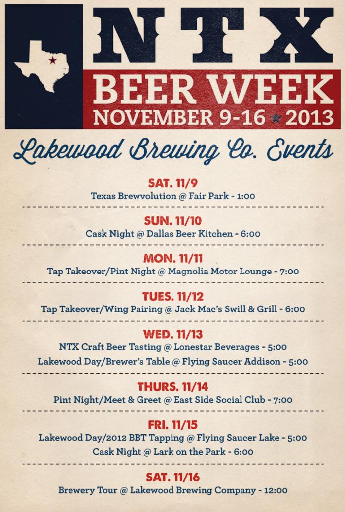 Lakewood NTX Beer Week 2013 Events