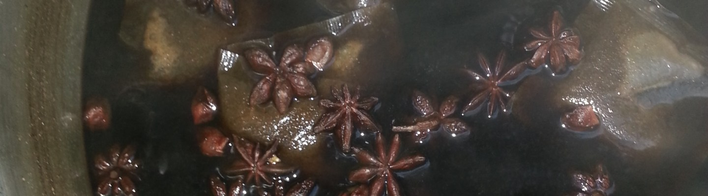 Brewing with Star Anise and tea spices