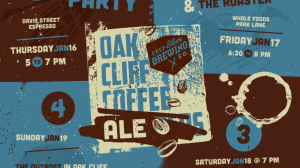 Oak Cliff Coffee Ale Launch Poster