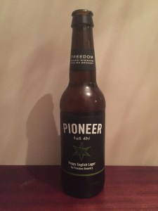 Pioneer Lager, Freedom Brewery, 4.6% ABV