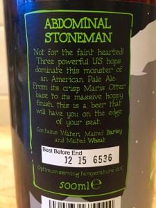 Abdominal Stoneman Lymestone Brewery beerliever.com