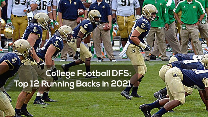College Football DFS- Top 12 Running Backs in 2021