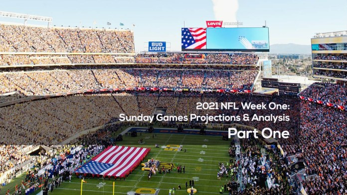 2021 NFL Week One- Sunday Games Projections & Analysis Part One