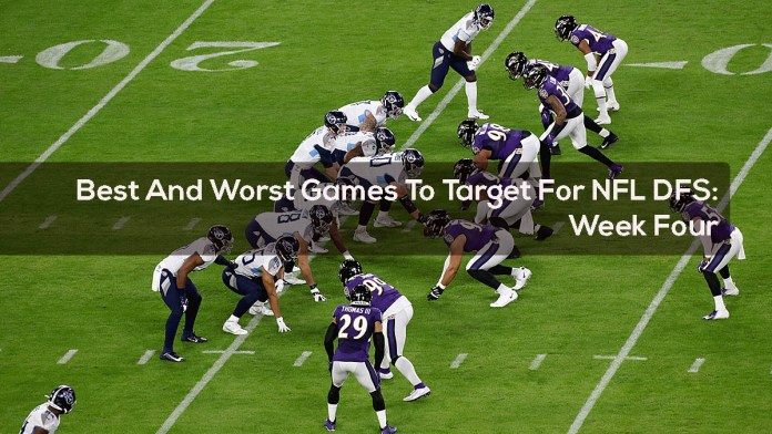 Best And Worst Games To Target For NFL DFS - Week Four