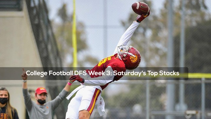 College Football DFS Week 3- Saturday's Top Stacks