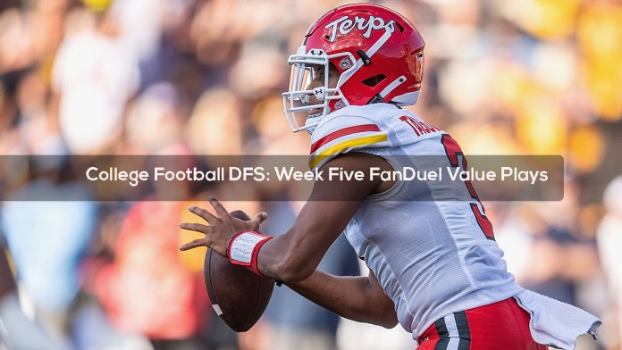 College Football DFS- Week Five FanDuel Value Plays