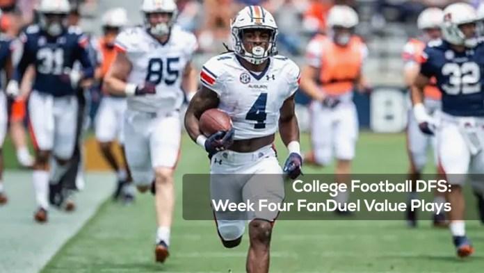 College Football DFS- Week Four FanDuel Value Plays