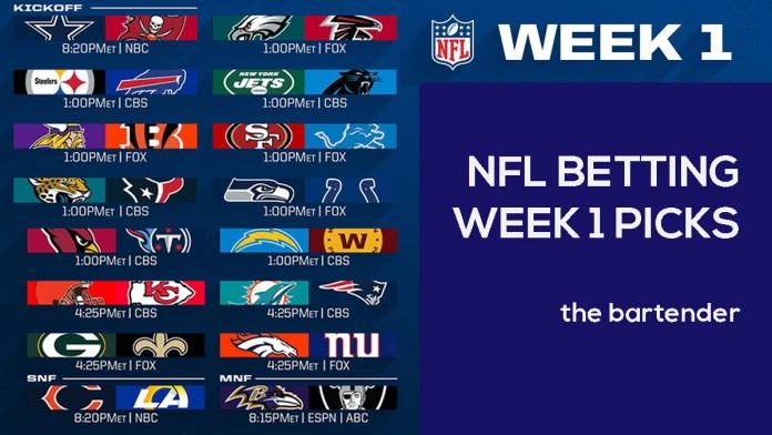 NFL Week 1 betting picks -- The Bartender
