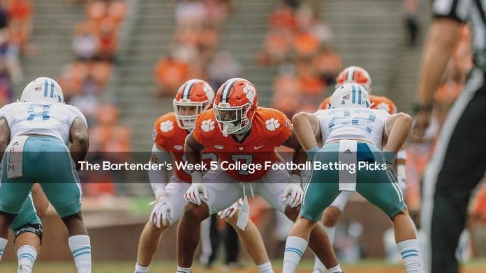The Bartender's Week 5 College Football Betting Picks