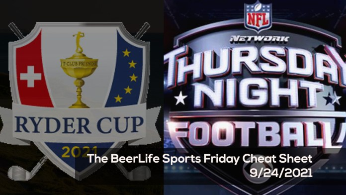 The BeerLife Sports Friday Cheat Sheet – 9:24:2021