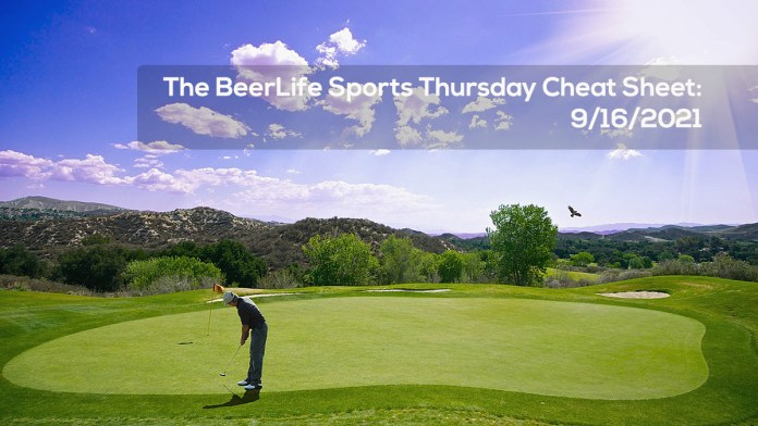 The BeerLife Sports Thursday Cheat Sheet – 9:16:2021