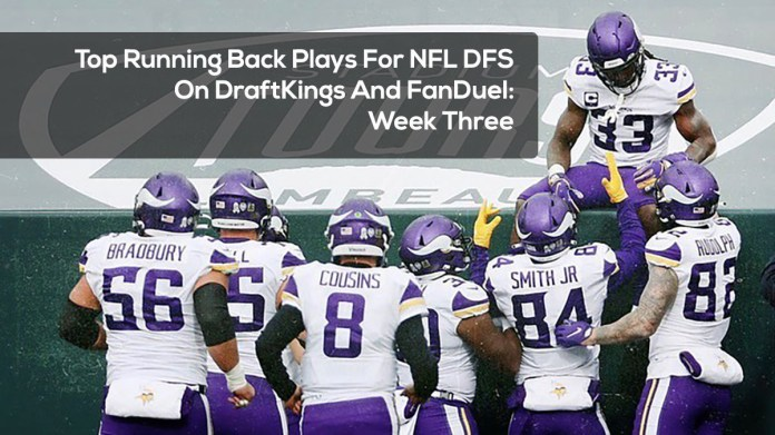 Top Running Back Plays For NFL DFS On DraftKings And FanDuel- Week Three