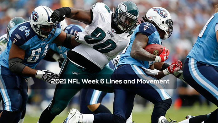 2021 NFL Week 6 Lines and Movement