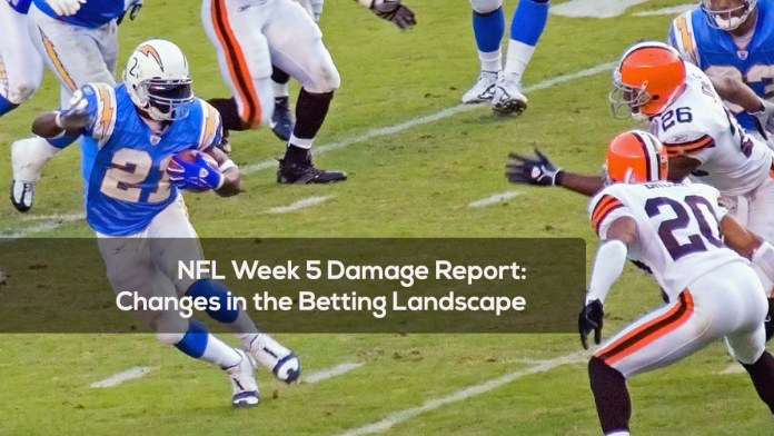 NFL Week 5 Damage Report- Changes in the Betting Landscape