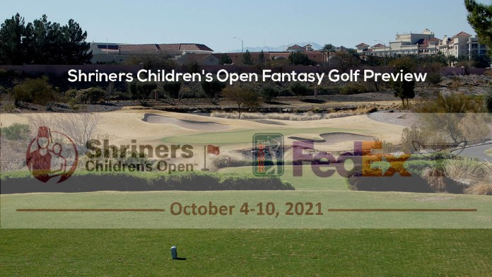 Shriners Children's Open Fantasy Golf Preview