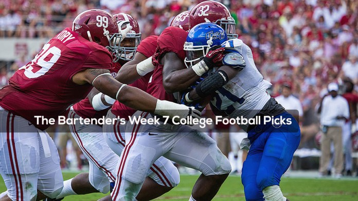 The Bartender's Week 7 College Football Picks