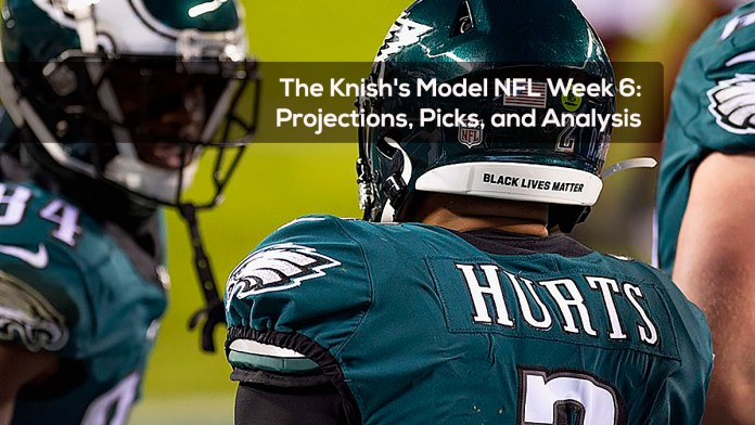 The Knish's Model NFL Week 6- Projections, Picks, and Analysis