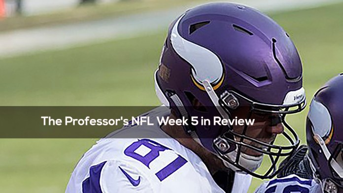 The Professor's NFL Week 5 in Review