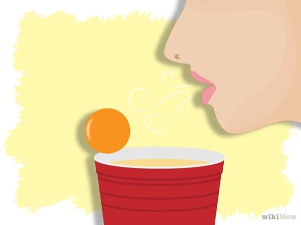 Beer Pong fingering / blowing