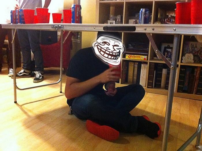 Beer Pong Troll Rule / Trolling