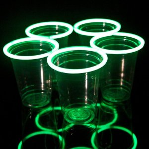 Green Glowing Beer Pong Cups
