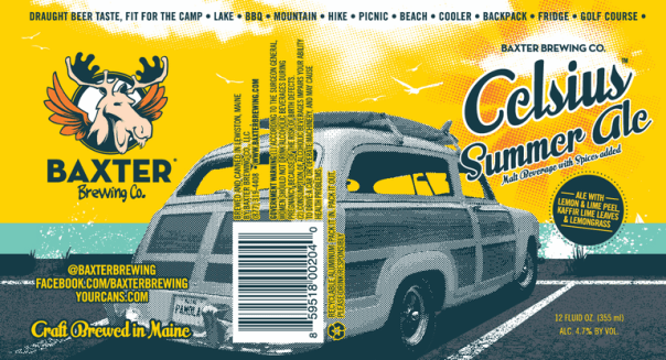 Baxter Celsius Summer Ale label