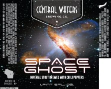 Central Waters' Space Ghost Imperial Stout Label