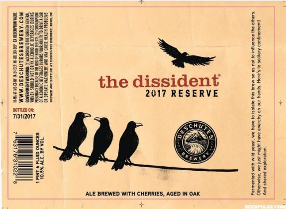 Deschutes The Dissident 2017 beer label BeerPulse