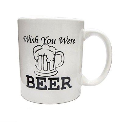 Funny-Mug-Wish-You-Were-Beer-Unique-Christmas-Present-Idea-for-Men-Women-Him-or-Her-Best-Office-Cup-Birthday-Gag-Gift-for-Coworkers-Mom-Dad-Kids-Son-Daughter-Husband-or-Wife-0