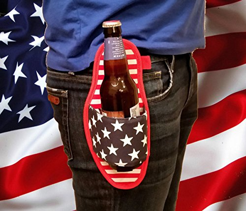 American-Flag-Canvas-Drink-Holster-Fits-Can-or-Bottle-0