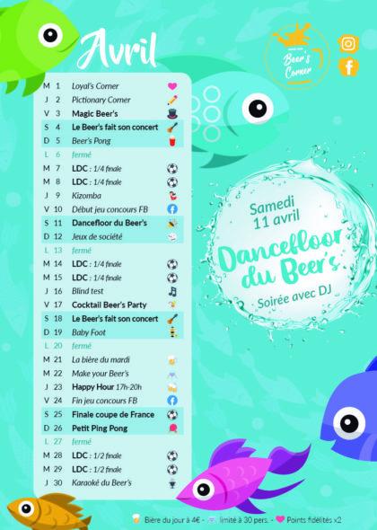 Programme Avril