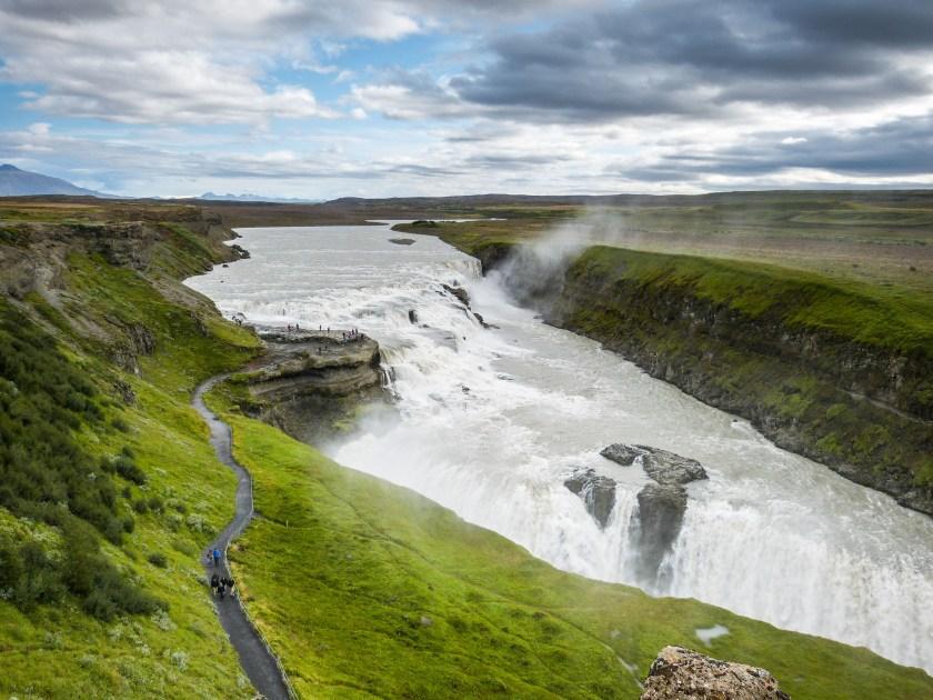 Gullfoss der Gold-Wasserfall Iceland Island Golden Circle