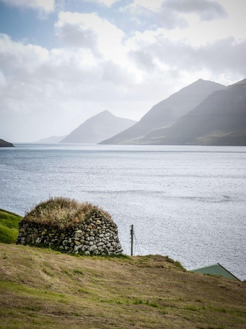 Faroe Islands Kunoy Färöer Inseln Heustall